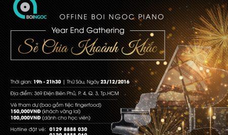 Sự kiện piano của Bội Ngọc – Offline cuối năm tại TP.HCM