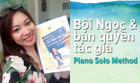 Bội Ngọc nhận bản quyền tác giả phương pháp Piano Solo Method