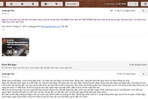 feedback hoc vien tu dem hat piano cua Boi Ngoc