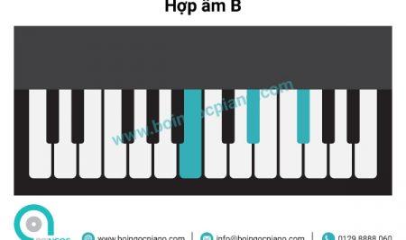 6 hợp âm cơ bản thường dùng khi đệm hát giọng B – G#m (Si trưởng –  Sol thăng thứ)