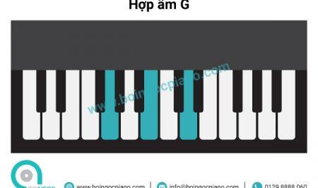 6 hợp âm cơ bản thường dùng khi đệm hát piano giọng G – Em (Sol trưởng –  Mi thứ)
